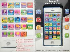 Iphone 5 kids first tablet educational learning touch screen toy/game