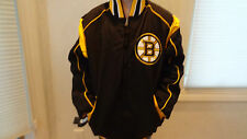 NWT NHL Boston Bruins Men's Black/Gold Reversable Jacket - Sizes S, M & XL