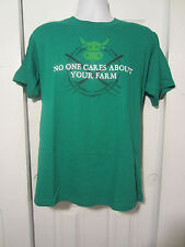 HOT TOPIC: NO ONE CARES ABOUT YOUR FARM T-Shirt  NWOT Facebook Jinx