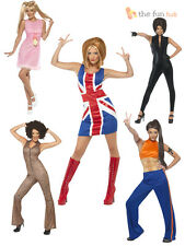 Adult Spice Girls Fancy Dress Costumes Outfit New Girl 1990s Pop Star 90s Ladies