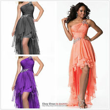 ★2013 High-Low One Shoulder Cocktail Evening Dresses Party Formal Prom Ball Gown