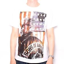 SONS OF ANARCHY T SHIRT - CLAY MORROW STARS & STRIPES DESIGN 100% OFFICIAL BIKE