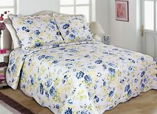 41-42 All For You 3PC quilt set, bedspread, coverlet-reversible-flowers-4 SIZES