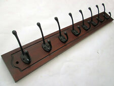 CLASSIC VINTAGE SOLID PINE WOODEN HAT AND & COAT HOOKS HANGER PEGS RAIL RACK