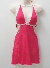 VICTORIA'S SECRET Lace Halter Sleep Dress Enchanted Pink NEW NWT