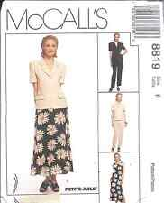 8819 UNCUT McCalls SEWING Pattern Jacket Dress Pants Skirt Vintage OOP