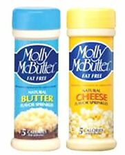 2 PK MOLLY McBUTTER Butter Cheese Sprinkles FAT FREE SEASONING 5 Calorie