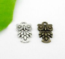 Free Ship 88PcsTibetan Silver Bronze Owl Charms Pendant For Jewelry 20x11mm