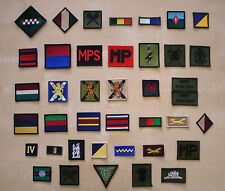 British Army Badges - Various Regts, Corps & Units. Singles, Pairs & Triples.
