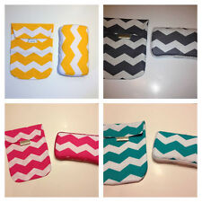 CHEVRON Diaper Pouch AND Matching Wipes Case. 4 Chevron Patterns to choose from