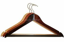 50 WOOD / WOODEN HANGERS, PANT SHIRT DRESS SKIRT TOP, NATURAL MAHOGANY CHERRY