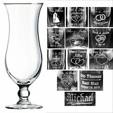 Personalized 15oz Hurricane Glasses Custom Wedding Party Anniversary Gifts Gift