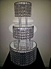 1M CRYSTAL CLEAR GARLAND WEDDING CAKE STAND DECORATIONS