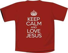 Keep Calm And Love Jesus T Shirt Christian Red