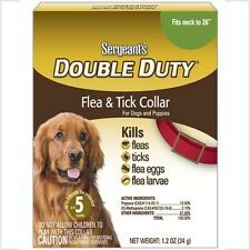 "★★Sergeants Double Duty Flea & Tick Collar for Dogs & Puppies Fits Neck to 26""★★"