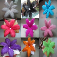 Beautiful! 100pcs natural ostrich feathers 8-10 inch/20-25 cm variety of colors