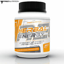 Herbal Energy 60-180 Tablets Pre-Workout Booster Energy Pills Guarana Ginseng