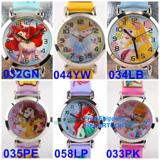 DISNEY PRINCESS SNOW WHITE AURORA BELL 3D GRAPH SOFT BAND CHILD WATCH PS-3K1119