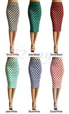 WOMEN CHEVRON PRINT SEXY STRAIGHT PENCIL SKIRT - MADE IN USA (MORE COLORS)