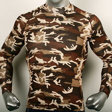 Mens Compression Military Long sleeve Thermal Shirts sports Top Base Under Layer