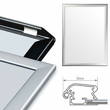 A0 Silver & Black Snap Frames Aluminium Clip Retail Shop Wall Poster Displays