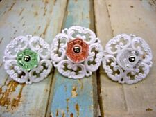 SHABBY & CHIC GLASS KNOBS* FURNITURE APPLIQUES* ARCHITECTURAL & VINTAGE STYLE