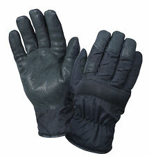 Cold Weather Insulated Nylon Black Winter Glove