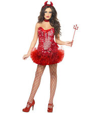 Ladies Sexy Red Devil Tutu Costume Halloween Hen Night New Year Fancy Dress