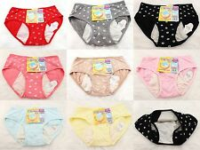 New Women's Cotton Menstrual Period Physiological Underpants Leakproof Underwear