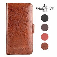 SNAKEHIVE® Genuine Leather Wallet Flip Case Cover for Samsung Galaxy S4 Mini