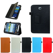 """Folio Leather Case Cover Stand For Samsung Galaxy Tab 3 7.0"""" 7"""" Tablet P3200 Sup"""
