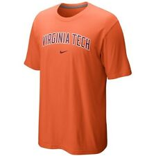 Virginia Tech Hokies MENS Shirt T-Shirt Arch Logo by Nike Orange NWT