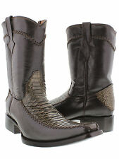 mens python snake dress boot western fancy cowboy rodeo exotic rock star zipper