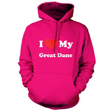 I Love My Great Dane - Unisex Hoodie / Hooded top - Dog - Puppy - Canine - Pet