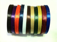 12 Meters 6mm Satin Ribbon, many colours available