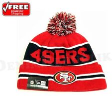 New Era SAN FRANCISCO 49ERS Knitted Beanie Style The Coach Knit NFL Stocking Pom