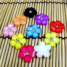 UPICK COLORS ACRYLIC RHINESTONE 16MM DAISY FLOWER FLATBACK EMBEELISHMENT B0307