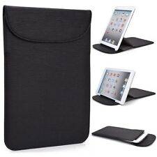 "New! Kroo Black Flexi-Stand PU Leather Slim Travel Sleeve Case for 7"" Tablets"