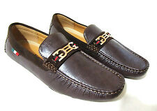 FRANCO VANUCCI Men's Driver Casual Loafer Shoes Faux Brown Leather
