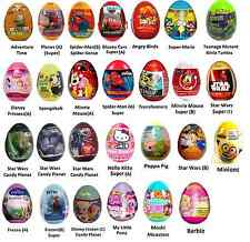 12 SURPRISE EGGS FOR £10 CARS MINNIE SPIDER MAN MONSTERS INC PEPPA SKYLANDERS