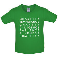 7 Catholic Virtues - Kids / Childrens T-Shirt - Bible - Free UK Delivery