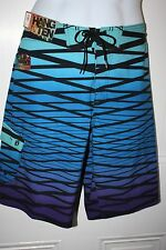 NWT HANG TEN Mens Swim Trunks Board Shorts Flex Wave 4-Way Stretch $40 Retail