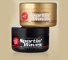 Sportin Waves Hair Gel Pomade Black / Gold Maximum Hold 3.5 oz