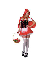 Adult Sexy Red Hot Little Red Riding Hood Outfit Fancy Dress Costume Ladies BN