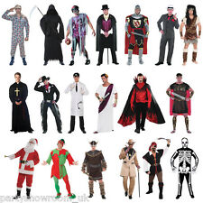 Mens Pirate Priest Cowboy Vampire Pimp Halloween Stag Party Fancy Dress Costume