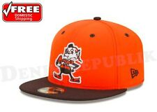 New Era 5950 CLEVELAND BROWNS 2 Tone Team Cap NFL Fitted Hat 2Tone 59Fifty