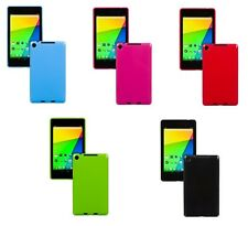 "SLIM FIT TPU Gel Gomma Custodia Cover per Google Nexus 7 ""POLLICI SECONDA GEN 2 II Tablet"