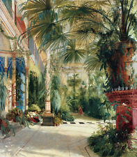"""Carl Blechen : """"The Interior of the Palm House"""" (1832) — Giclee Fine Art Print"""