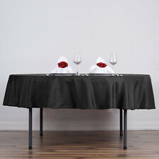 """10 pc 70"""" Round Polyester Tablecloths Wedding Table Linens SALE  - 7 colors"""
