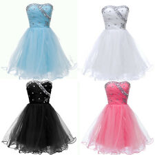 New Stock Strapless Voile Ball Cocktail Evening Prom Party Mini Homecoming Dress